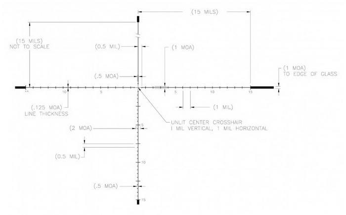 Оптический прицел U.S. Optics 3.2-17x44 35мм SN-3 (RDP Mil)