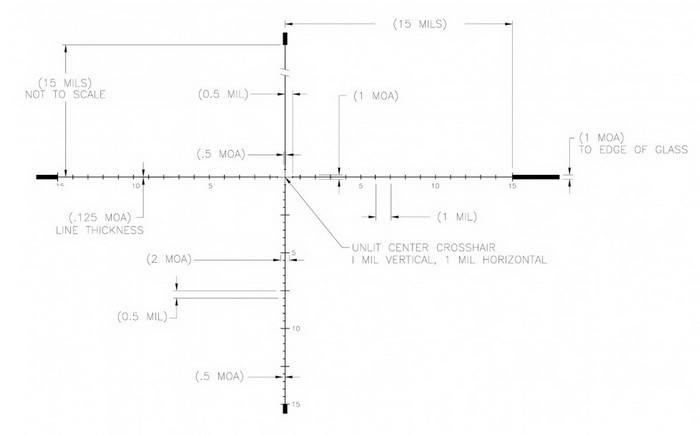 Оптический прицел U.S. Optics T-PAL 3.2-17x44 30мм SN-3 (RDP Mil)
