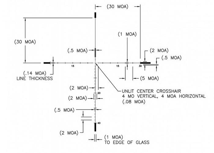 Оптический прицел U.S. Optics 3.2-17x44 30мм SN-3 T-PAL (RDP MOA)