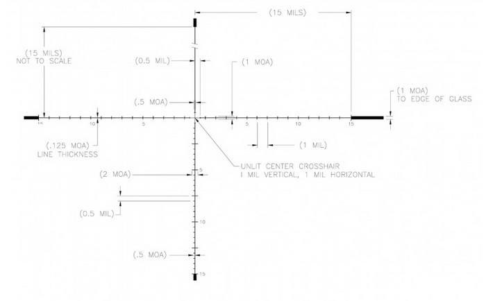 Оптический прицел U.S. Optics 5-25x58 35мм SN-3 T-PAL (RDP Mil)