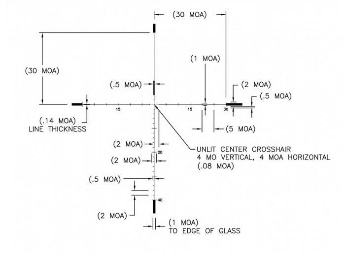 Оптический прицел U.S. Optics 5-25x58 35мм SN-3 T-PAL (RDP MOA)