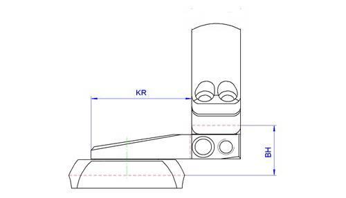 Кронштейн MAK на раздельных основаниях, с кольцами 26мм, на  Mauser K98, 1022-26010
